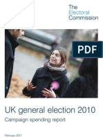 Electoral Commission Campaign Expenditure Report 2010 General Election
