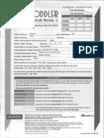 Sensory Profile 2 Caregiver form pages 1 to 6