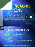 RETENCAO 11% INSS