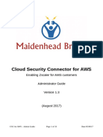 MB CloudSecurityConnectorforAWS AdministratorGuideV1.3(1)