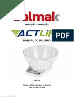 Balmak Manual do usuário - Actlife - EASY5