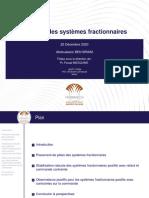 Présentation de soutenance de thèse sur le contrôle des système fractionnaires