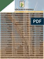 Tabela Equivalencia Maltes Bindewald