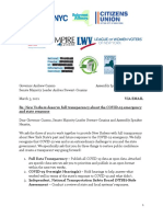 Letter From Groups to Leaders on COVID 19 Transparency