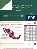 Estrategia contra la violencia en proceso electoral de 2021