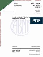 ABNT NBR ISO IEC 31010_2012 - Gestão de Riscos — Técnicas Para o Processo de Avaliação de Riscos