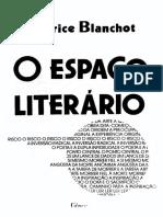 maurice blanchot - o espaço literário