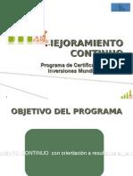 - Mejoramiento Continuo practica empresarial 2011