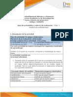 Guia de Actividades y Rúbrica de Evaluación Fase 2. Análisis de Prefactibilidad