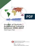 Growth of Turkish Automotive Industry between 2000–2010