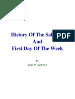 Istoria sabatului-ANDREWS