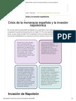 Módulo 9 G20_ Crisis de la monarquía española y la invasión napoleónica