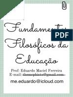 FUNDAMENTOS FILOSOFICOS DA EDUCAÇÃO