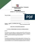 Taller UNIDAD IV, 1° Ley de la Termodinámica, 15-08 20