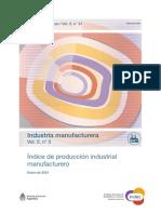 Actividad industrial, enero 2021. INDEC.