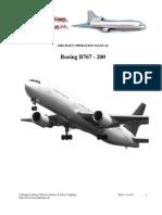 Aircraft Operation Manual B767-200