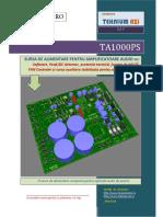 TA1000PS - Sursa de Alimentare Cu Softstart Si Protectii Pentru Amplificatoare Audio