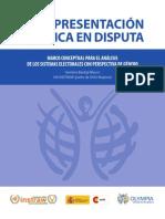 La representación política en disputa. Marco conceptual para el análisis de los sistemas electorales con perspectiva de género.