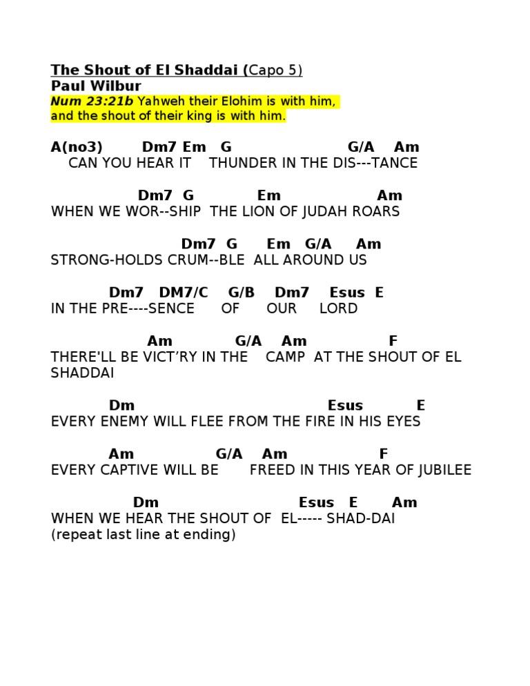 Paul Wilbur - The Shout of El Shaddai