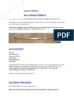 How to Make a Japanese Bokken