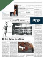 El Beti-Jai de las chicas (El País - 07/02/2011)