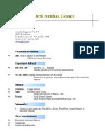 Ejemplo 1 CV Cronologico Inverso Formacion Profesional