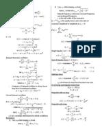 Phys350 MT Formulas