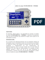 2. Como Utilizar El Medidor de Campo TV EXPLORER HD + PROMAX