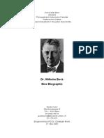 Dr. Wilhelm Beck - Eine Biographie