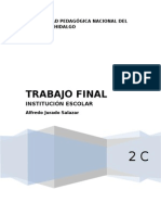 Trabajo final Institución Escolar
