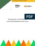 LENGUAJES DE PROGRAMACIÓN 1 IA-044 - ProgramaciónDidáctica-I-PAC-2021