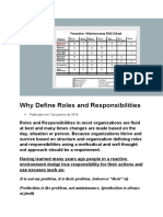 Why Define Roles and Responsibilities
