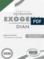 Cartilla Informacion Exogena Dian 2020