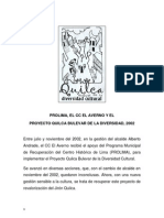 Quilca Bulevar de La Divers Id Ad 2002 Memoria
