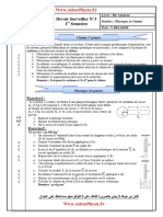 Controle 3 _ 2 S1 PC TC FR (Www.AdrarPhysic.fr)