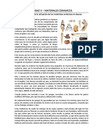 UNIDAD V - CERAMICA - MATERIAL DIDACTICO semana 4 materiales I