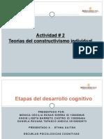 Teorías del constructivismo individual (2)