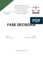 Fase Decisoria Práctica Forense