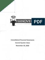 Hanover Foods Quarterly Nov 2020