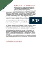 CARACTERISTICAS DE LOS SERES VIVOS ciencias
