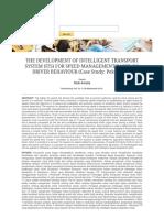 The Development of Intelligent Transport System (Its) for Speed Management Based on Driver Behaviour (Case Study_ Pekanbaru)