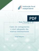 NT39_Custo_carregamento_nivel_reservas_internacionais