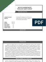 FEP-543 FORMULACIÓN Y EVALUACIÓN DE PROYECTOS