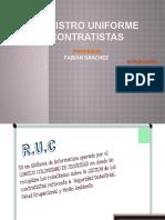 Registro Uniforme de Contratistas - Diapositiva