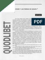 Robert Schumann y Las Formas de Sonata - Joel Lester (1995)