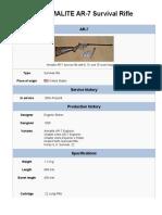 The Armalite AR-7 Survival Rifle