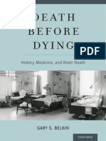 Death before Dying ~ History, Medicine, and Brain Death - Gary S. Belkin ©2014