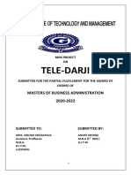 Aniket Mini Project PDF TELEDARJI