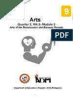Arts9_Q2_Mod2_RenaissanceBaroque_Version2