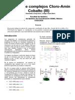 Practica 1 de coordinación síntesis de complejos cloro-amín cobalto (III)